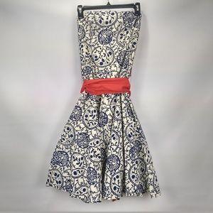 Anthropologie Tabitha Punchline Strapless Dress